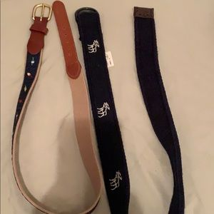Abercrombie belt and leather belt